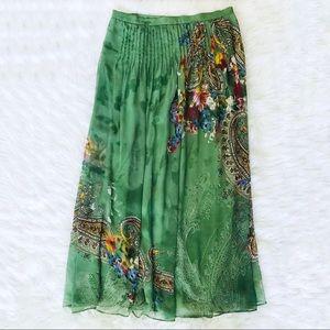 Womens Soft Surrounding long boho maxi skirt Large